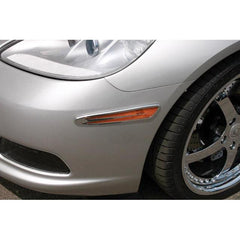 Corvette Side Marker Covers - Billet Chrome 2 Pc. (05-12 C6)