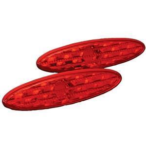 Corvette Side Marker Light 2 Pc. (Set) - Diamond Cut Red : 1997-2004 C5 & Z06