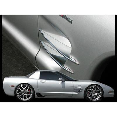 (97-04 C5 / C5 Z06) : Corvette Side Spears - Billet Aluminum Chrome,Exterior