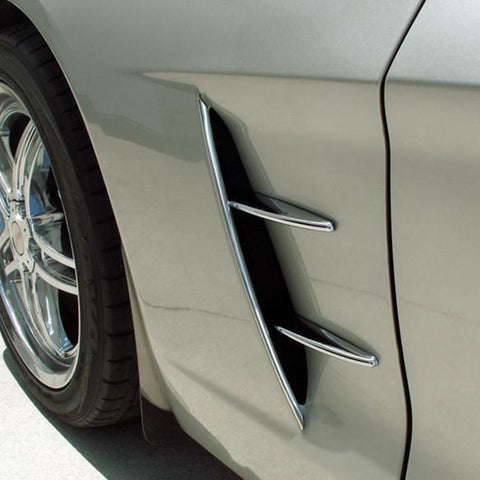 Corvette Side Vent Spears - Retro Style - 4 pc : 2005-2013 C6