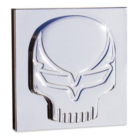 Corvette Speed Demon Skull Badges - Chrome (Pair),Exterior