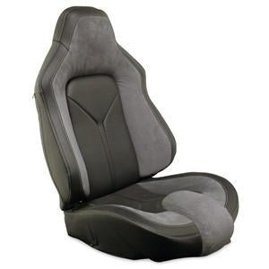 Corvette Sport Seat Foam & Seat Covers - Steel Gray/Black