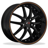 Corvette SR1 Performance Wheels - APEX Series : Gloss Black w/Orange Stripe,Wheels & Tires