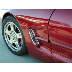 Corvette Stainless Steel Laser Mesh Side Vents (97-04 C5 / C5 Z06)