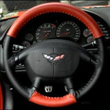 Corvette Steering Wheel Cover Euro-Style Two-Tone : 1997-2004 C5 & Z06,Interior