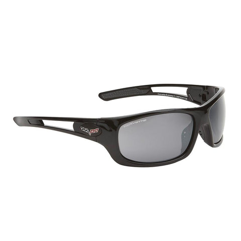 Corvette Sunglasses - Full Frame Gloss Black : C6 Logo