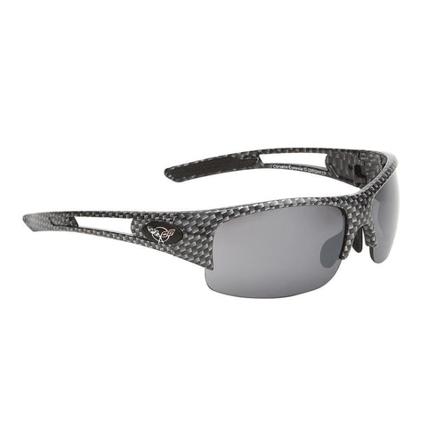 Corvette Sunglasses - Rimless Carbon Fiber : C5 Logo