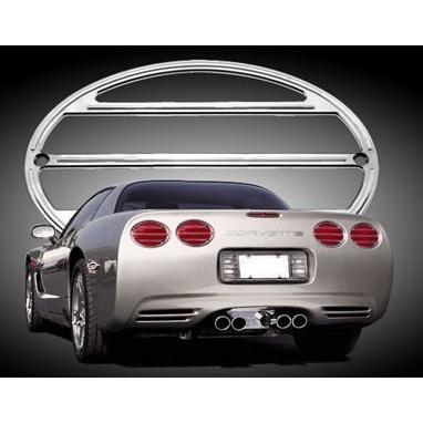 Corvette Taillight Bezel Set - Billet Aluminum Chrome (97-04 C5 / C5 Z06),Lighting