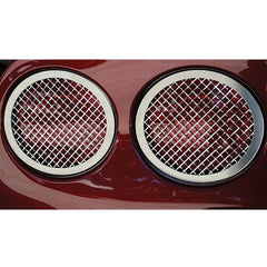 Corvette Taillight Grilles with Laser Mesh - Polished Stainless Steel 4 Pc. : 2005-2013 C6,Z06,ZR1,Grand Sport