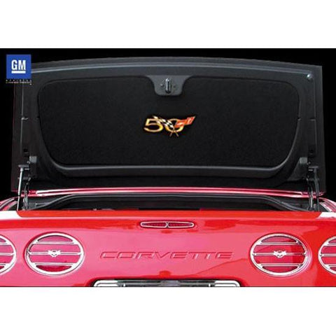 Corvette Trunk Liner - Convertible or Hardtop with Gold 50th Anniversary Logo (2003 C5 / C5 Z06)