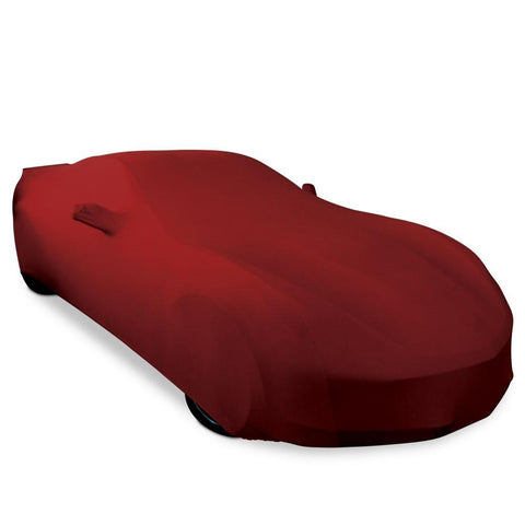 Corvette Ultraguard Plus Stretch Satin Car Cover - Dark Red - Indoor : C7 Stingray, Z51, Z06, Grand Sport