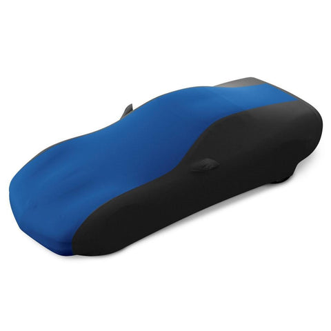 (1997-2004 C5, Z06) : Corvette Ultraguard Plus Stretch Satin Sport Car Cover - Blue/Black - Indoor