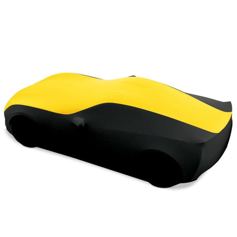 Corvette Ultraguard Plus Stretch Satin Sport Car Cover - Yellow/Black - Indoor : C7 Stingray, Z51, Z06, Grand Sport,Car Cover
