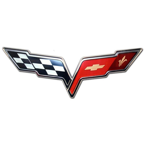 Corvette Wall Sign - C6 Emblem 32