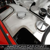 Corvette Washer Tank Covers with Cap Cover - Polished Stainless Steel : 1997-2004 C5 & Z06,Engine