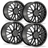 Corvette Wheel - 2009 ZR1 Style Reproduction (Set): Gloss Black,Wheels & Tires