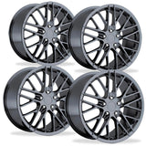 Corvette Wheel - 2009 ZR1 Style Reproduction (Set) : PVD Black Chrome for your 1997-2012 C5, C6, ZR1, Z06 or Grand Sport Corvette!,Wheels & Tires