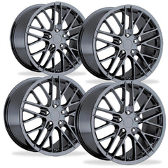 Corvette Wheel - 2009 ZR1 Style Reproduction (Set) : PVD Black Chrome for your 1997-2012 C5, C6, ZR1, Z06 or Grand Sport Corvette!