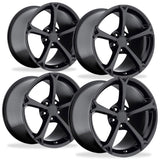 Corvette Wheel - 2010 Grand Sport Style Reproduction (Set) - Gloss Black,Wheels & Tires