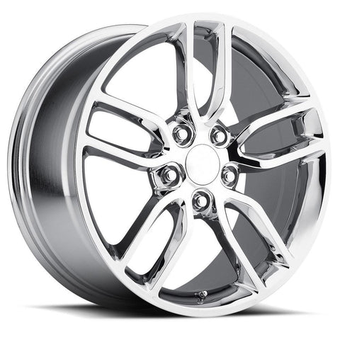 Corvette Wheel - C7 Corvette Stingray Z51 Split Spoke GM : Chrome