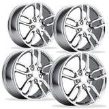 Corvette Wheel - C7 Corvette Stingray Z51 Split Spoke GM (Set) : Chrome,0