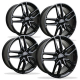 Corvette Wheel - C7 Corvette Stingray Z51 Split Spoke GM (Set) : Gloss Black,Wheels & Tires