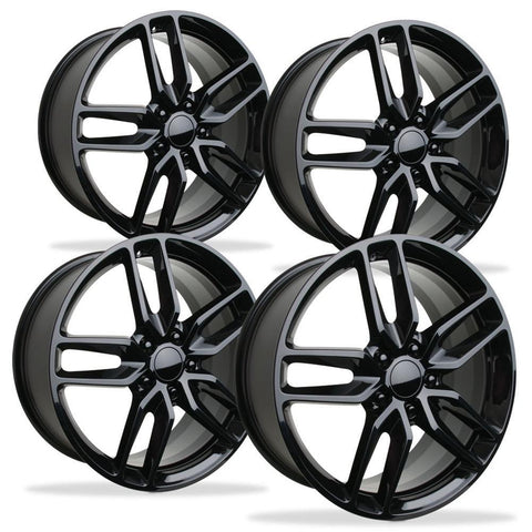 Corvette Wheel - C7 Corvette Stingray Z51 Split Spoke GM (Set) : Gloss Black 2014+,Wheels & Tires