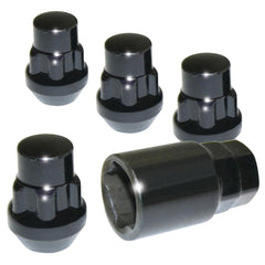 Corvette Wheel Locks (Set) Black : 1997-2016 C5, C6, C7, Z06, ZR1, Grand Sport