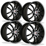 Corvette Wheel Package - SR1 APEX Black Chrome 1 Piece Aluminum (97-12 C5 / C5 Z06 / C6),Wheels & Tires