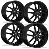 Corvette Wheel Package - SR1 APEX Gloss Black Set (97-12 C5 / C5 Z06 / C6),Wheels & Tires
