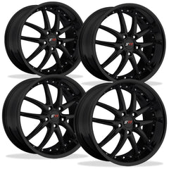 Corvette Wheel Package - SR1 APEX Gloss Black Set (97-12 C5 / C5 Z06 / C6)