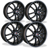 Corvette Wheel Package - SR1 APEX Semi-Gloss Black Set (97-12 C5 / C6),Wheels & Tires