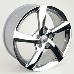 Corvette Wheels - 2014 C7 Corvette Stingray GM 5-Spoke : Chrome