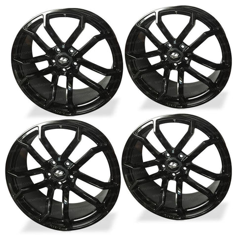 Corvette Wheels - LG Motorsports GR7 (Set) : Satin Black,Wheels & Tires