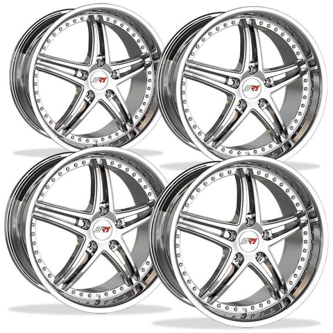 Corvette Wheels - SR1 Performance / BULLET Series (Set) - Chrome : 18x8.5/19x10 97-13 C5,C6,Wheels & Tires