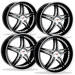 Corvette Wheels - SR1 Performance Wheels / BULLET Series (Set) - Black Chrome : 18x8.5/19x10 1997-2012 C5,C6