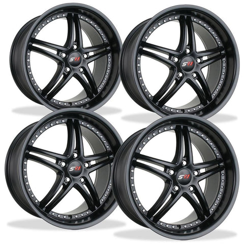 Corvette Wheels - SR1 Performance Wheels / BULLET Series (Set) - Semi-Gloss Black : 18x8.5/19x10 1997-2012 C5,C6