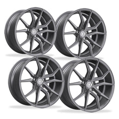 Corvette Wheels - XO Luxury - Verona (Set) : Matte Gunmetal, C5, C6, C7