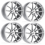 Corvette Wheels (Set) - Cray Spider - Silver w/ Mirror Cut Face,Wheels & Tires