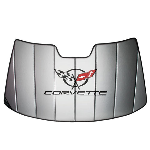 (97-04 C5 / C5 Z06) : Corvette Windshield Sunshade - Insulated w/ C5 Logo