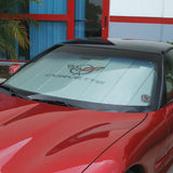(97-04 C5 / C5 Z06) : Corvette Windshield Sunshade - Insulated w/ C5 Logo,Car Care