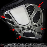 Corvette ZR1 Hood Insert Kit 4 Pc. - Perforated Stainless Steel : 2009-2013 ZR1,Engine