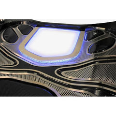 Corvette ZR1 Illuminated Hood Window Frame - Polished Stainless Steel : 2009-2013 ZR1