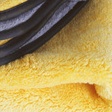 Extra Thick Plush Microfiber Drying Towel : Gray/Yellow,Car Care