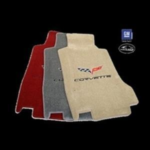 Lloyds Ultimat Floor Mats - C6 Emblem and Corvette Script - Steel Grey : 2007.5 - 2013