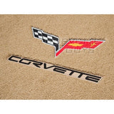 Lloyds Ultimat Floor Mats - Cashmere w/ C6 Logo and Corvette Script: 07.5 - 13 C6 (Hook Anchor),Interior