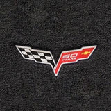 Lloyds Velourtex Floor Mats - 60th Anniversary in Cross Flags : 2007.5-2013 C6, Z06, Grand Sport & ZR1- Ebony - Set of 2,Interior