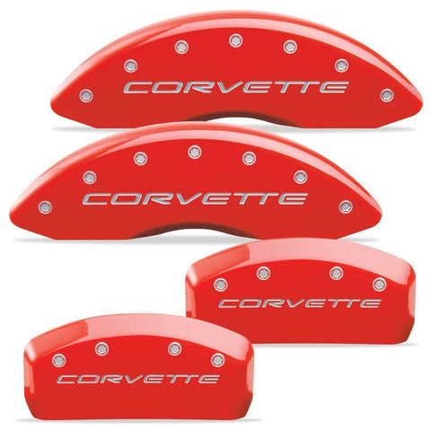 MGP Corvette Caliper Covers (Set of 4) - Red (C5 / C5 Z06),Brakes