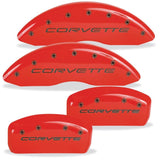 MGP Corvette Caliper Covers (Set of 4) - Red w/ Black Script and Bolts (C5 / C5 Z06),Brakes