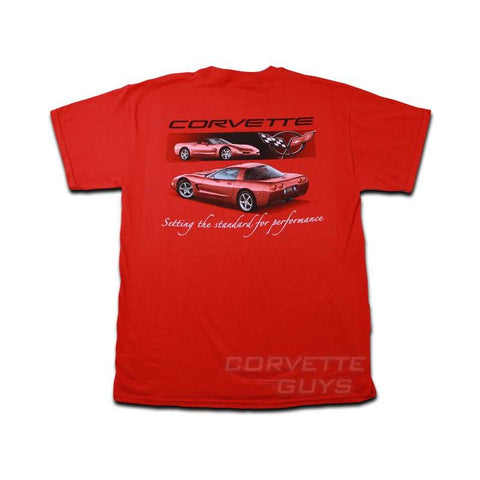Setting the Standard C5 Corvette Red T- Shirt - Mens
